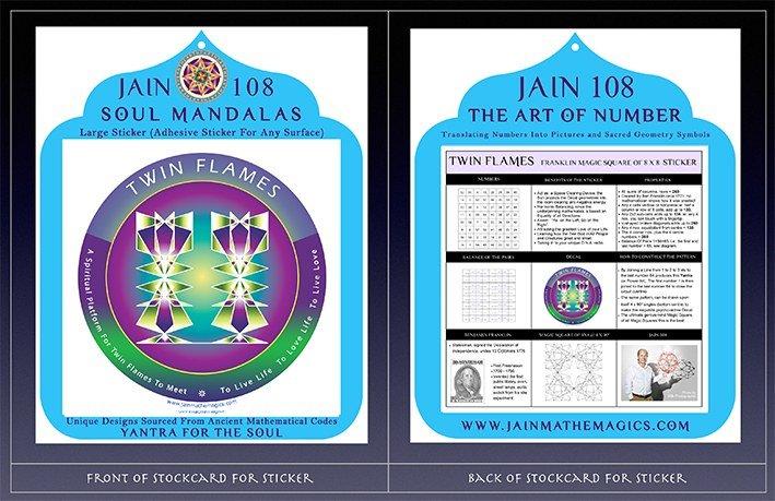 TWIN FLAMES: Decal + Sticker: Magic Square of 8x8 - Jain 108