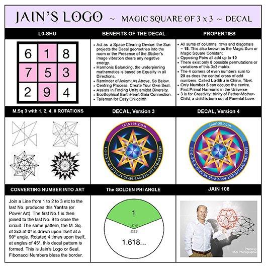 JAIN 108 LOGO: (2 Large Decals 165mm) - Jain 108